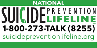 Picture of National Suicide Hotline information