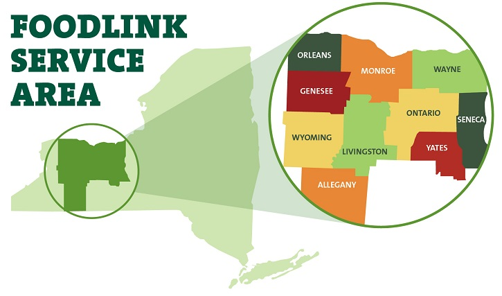 Food Link Map of Service Areas